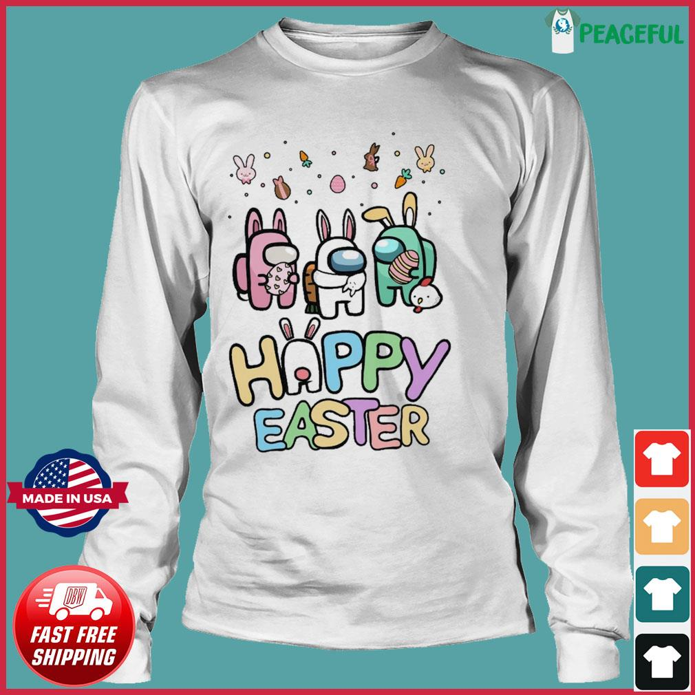 Cute Among Us Happy Easter Shirt Long Sleeve Tee