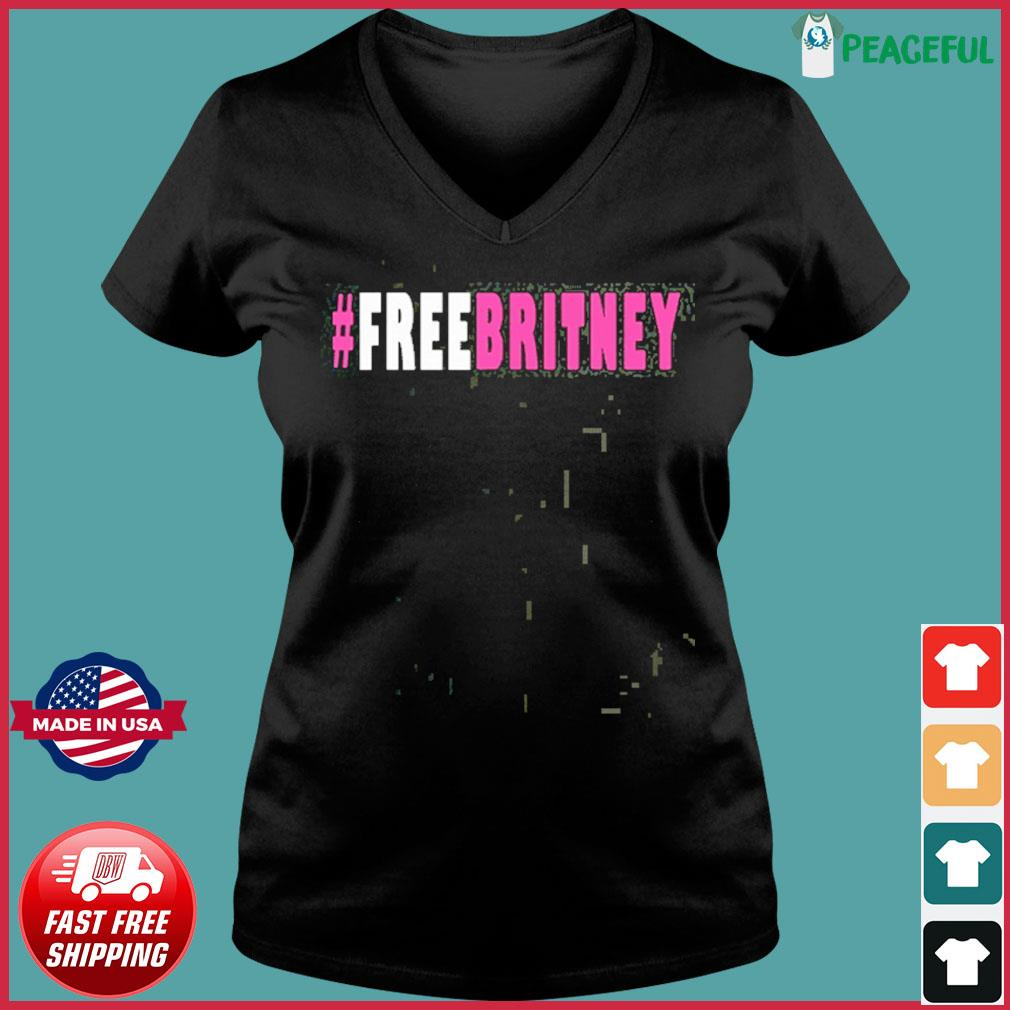 Official Free Britney Hashtag T-Shirt Ladies V-neck Tee