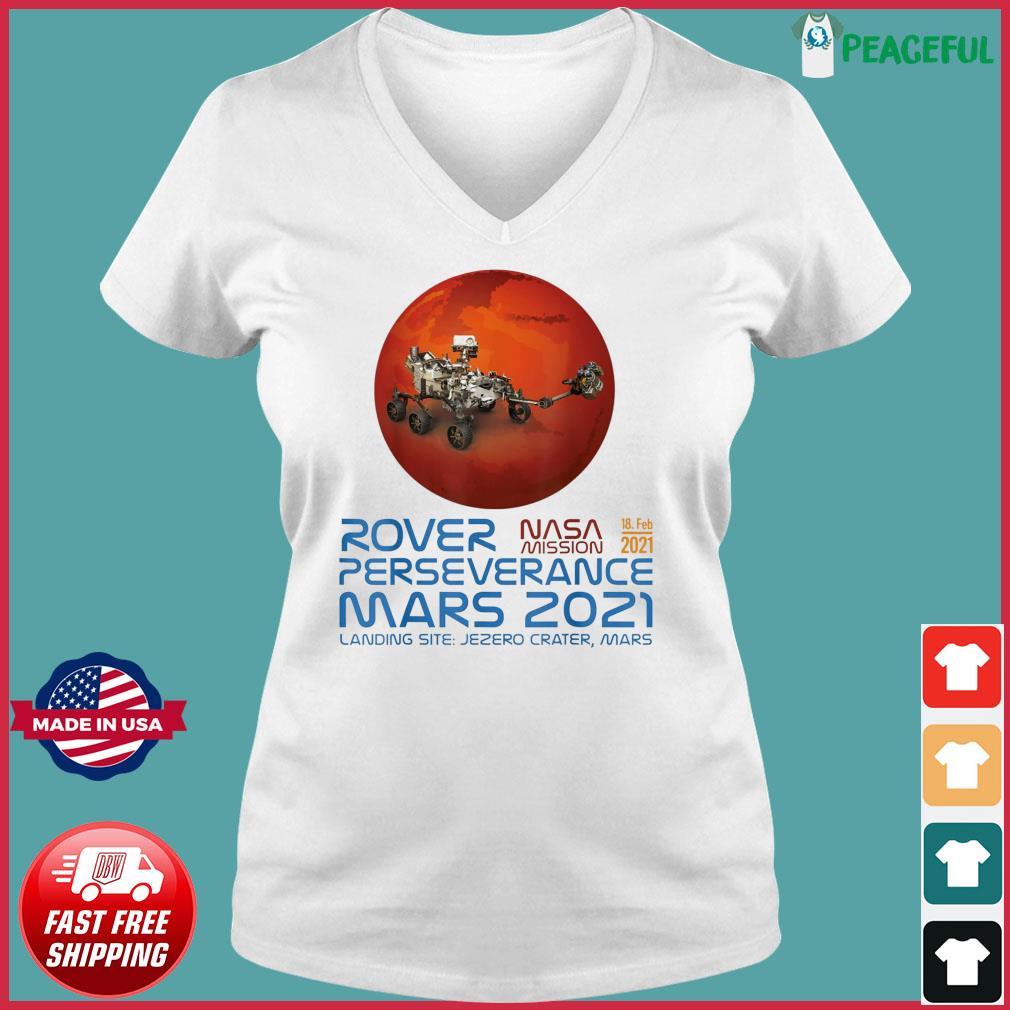 Perseverance New NASA Mars Rover 2021 Mission 18 Feb T-Shirt Ladies V-neck Tee