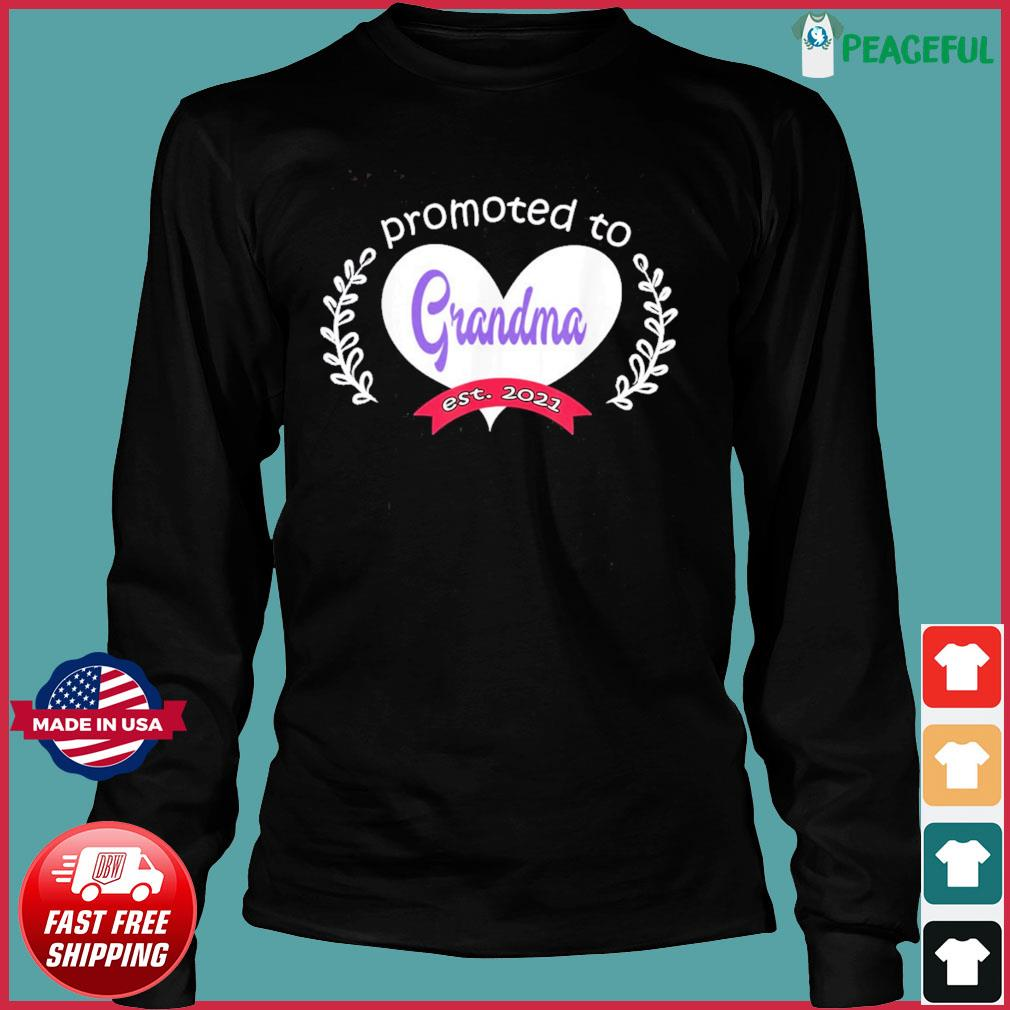 Promoted To Grandma Est 2021 Mothers Day Gift For Grandma T-s Long Sleeve