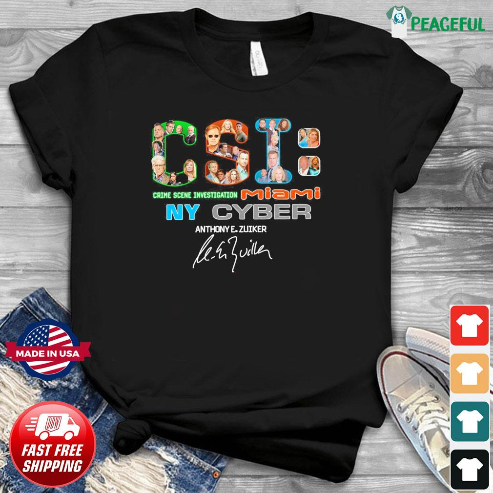 Official CSI Crime Scene Investigation Miami Ny Cyber Signatures Shirt