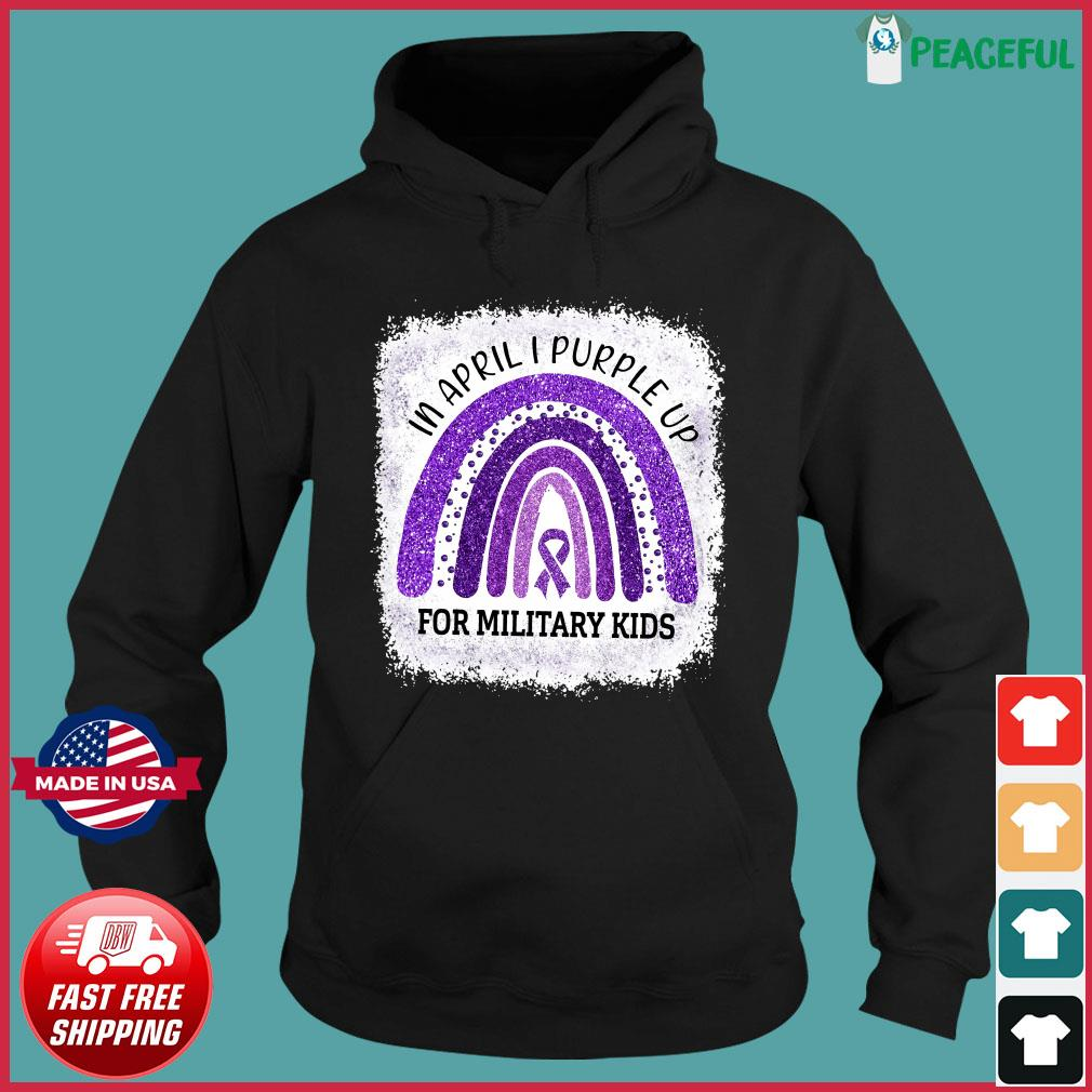 Official In April I Purple Up For Military Kids Awareness Shirt Hoodie
