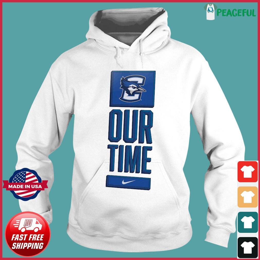 Official Nike Creighton Bluejays Basketball Our Time Bench Legend Shirt Hoodie