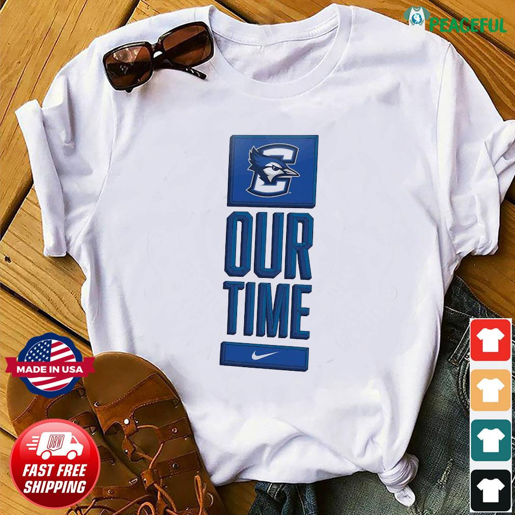 Official Nike Creighton Bluejays Basketball Our Time Bench Legend Shirt