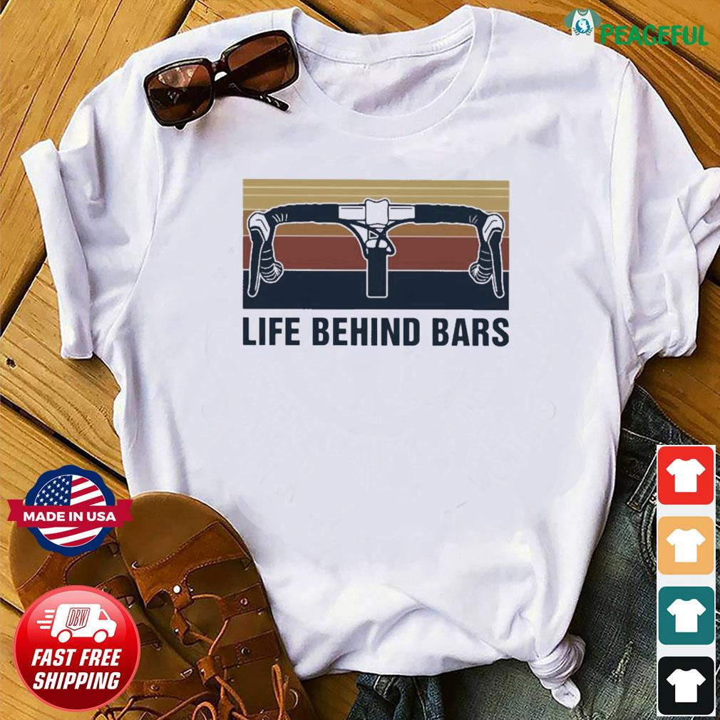 Official Vintage Cycling Life Behind Bars Shirt