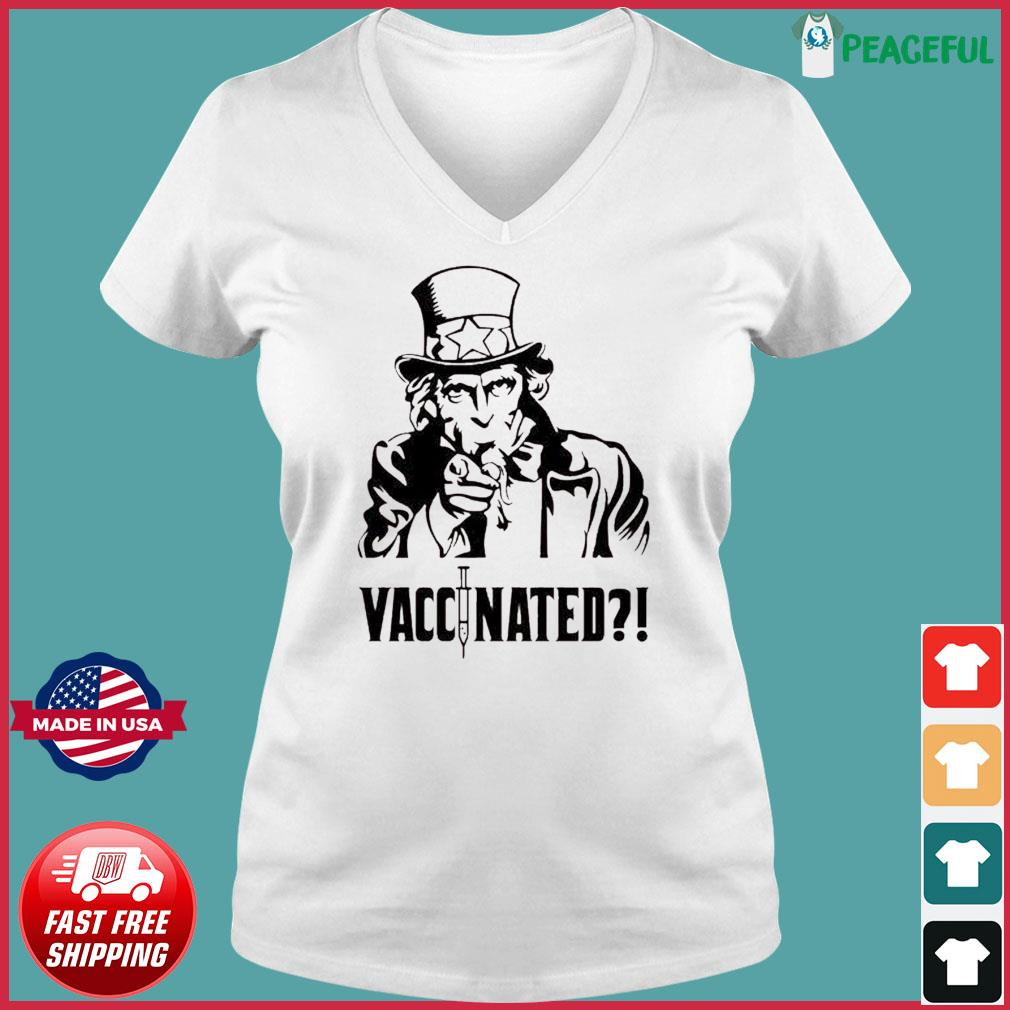 Uncle Sam Vaccinated Shirt Ladies V-neck Tee
