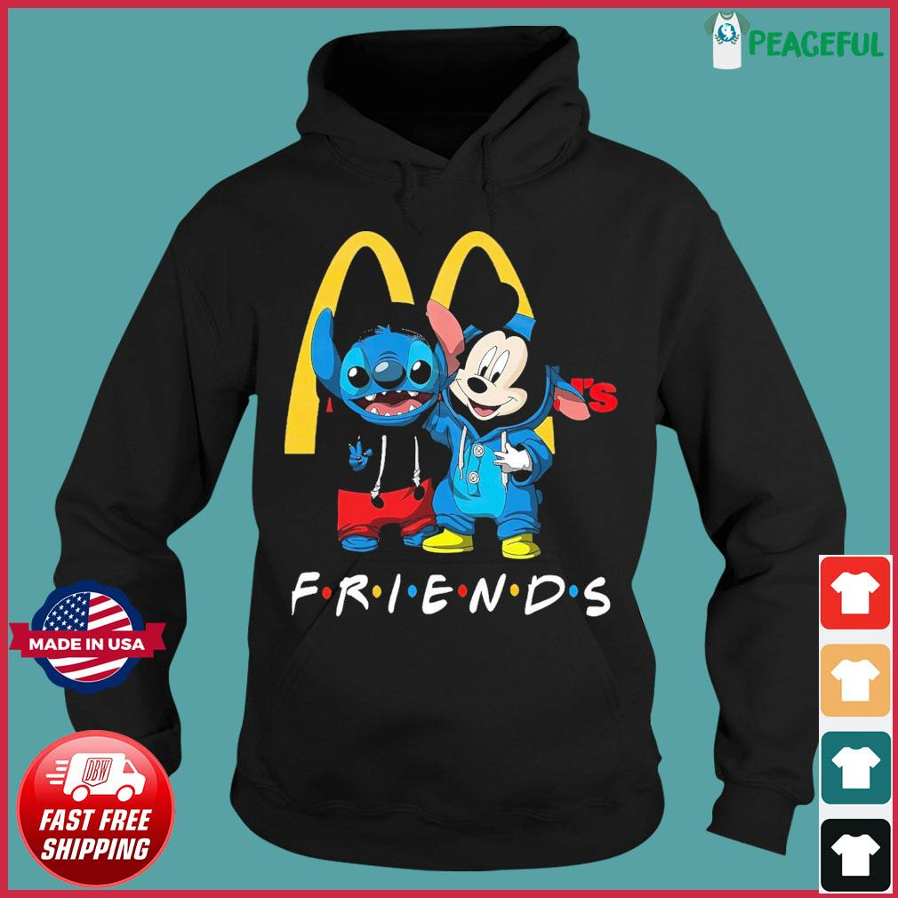 Baby stitch and mickey mouse friends mcdonalds logo s Hoodie