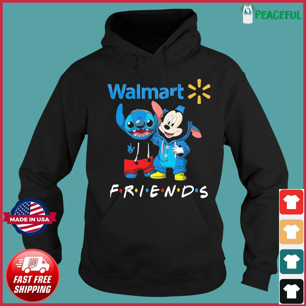 Baby stitch and mickey mouse friends walmart logo s Hoodie