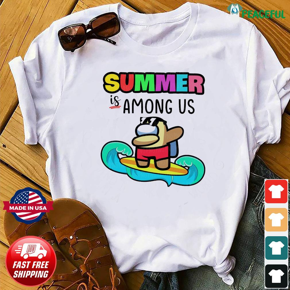 Official Summer Is Among Us Dabbing And Surfing Shirt