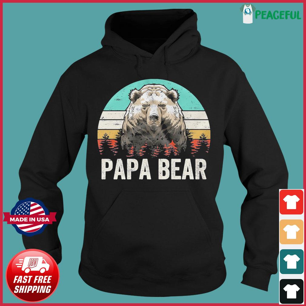 Official Vintage Retro Papa Bear - Happy Father's Day 2021 Shirt Hoodie