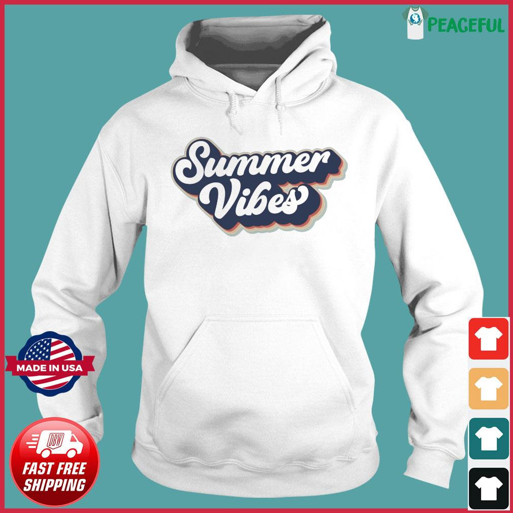 Official Vintage Summer Vibes - Hello Summer 2021 Shirt Hoodie