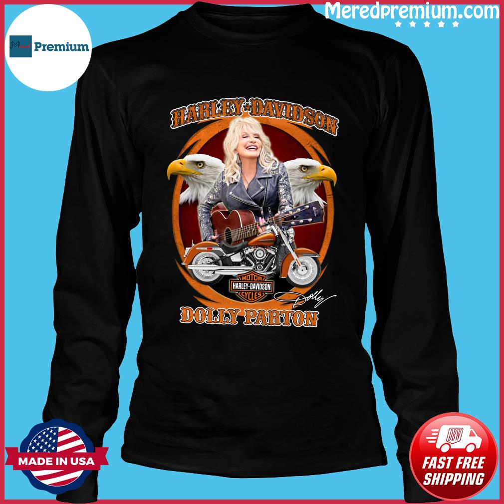 Motor Harley Davidson Cycles Dolly Parton Signature Shirt Long Sleeve