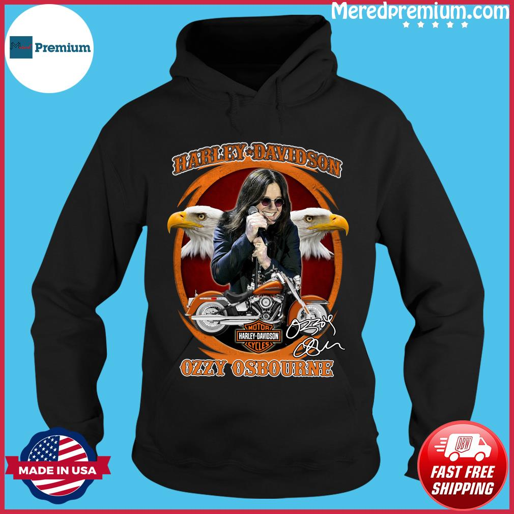 Motor Harley Davidson Cycles Ozzy Osbourne Signature Shirt Hoodie