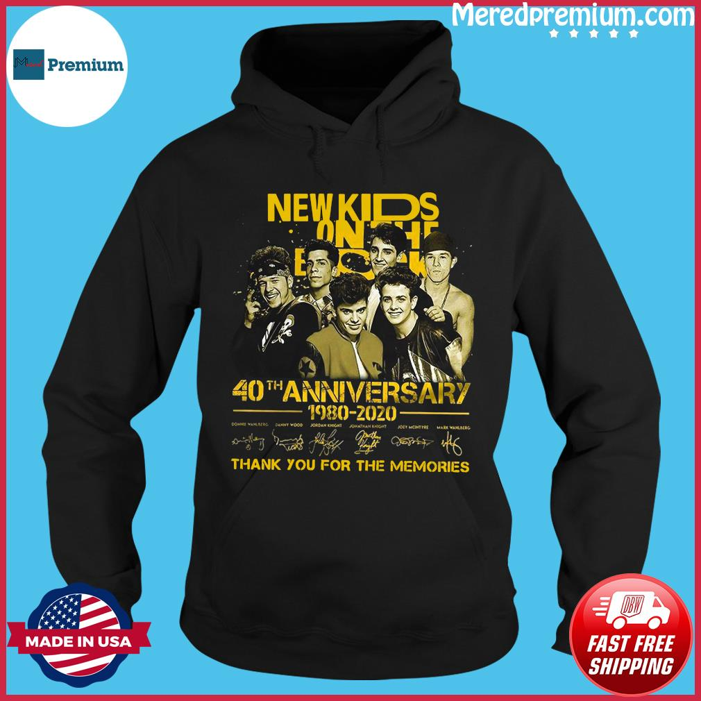 New Kids On The Dead 40th Anniversary 1980 2020 Thank You For The Memories Signatures Shirt Hoodie