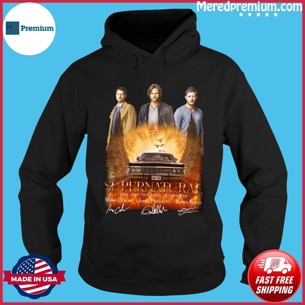 Supernatural 2005 2020 15 Seasons 327 Episodes Signatures Shirt Hoodie