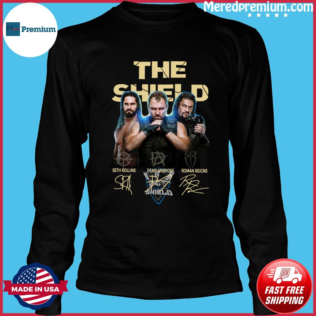 The Shield Seth Rollins Dean Ambrose Roman Reigns Signatures Shirt Long Sleeve