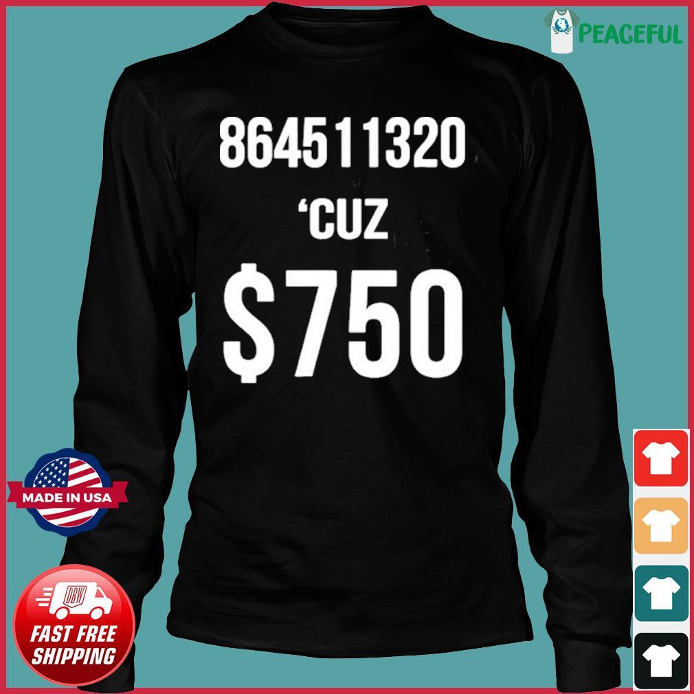 $750 Trump Taxes New York 750 More Reasons to Vote Democrat Shirt Long Sleeve