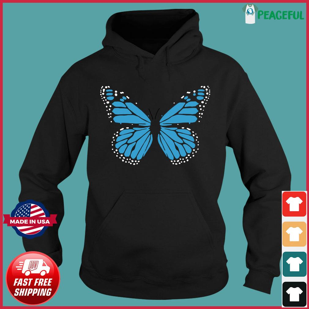 Blue Butterfly Fashion Emoji Icon Style Shirt Hoodie