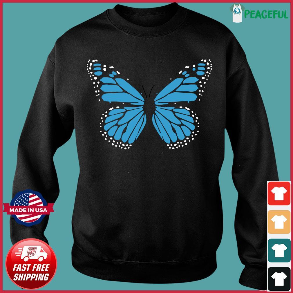 Blue Butterfly Fashion Emoji Icon Style Shirt Sweater