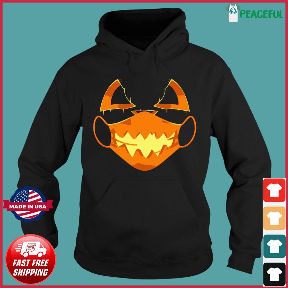 Covid-Halloween Mask Costume Scary Pumpkin T-Shirt Hoodie