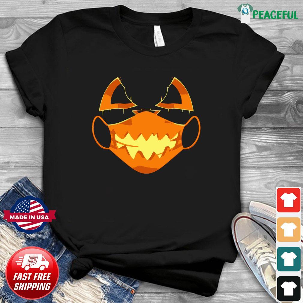 Covid-Halloween Mask Costume Scary Pumpkin T-Shirt