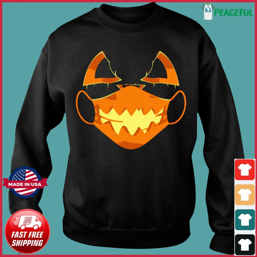 Covid-Halloween Mask Costume Scary Pumpkin T-Shirt Sweater