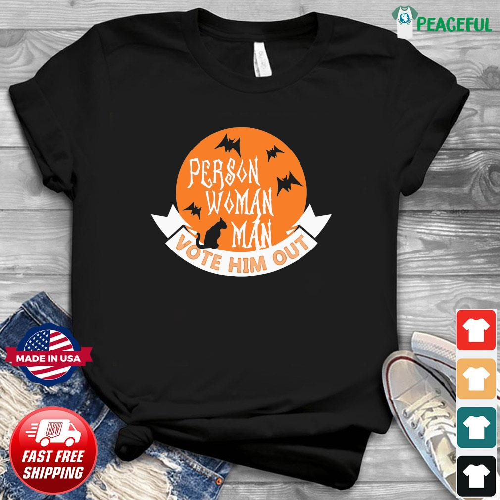 Halloween Person Vote Him Out Anti Trump Costume Shirt