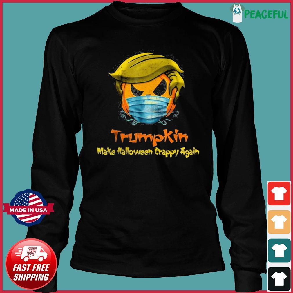 Halloween Trumpkin Covid Funny T-Shirt Long Sleeve