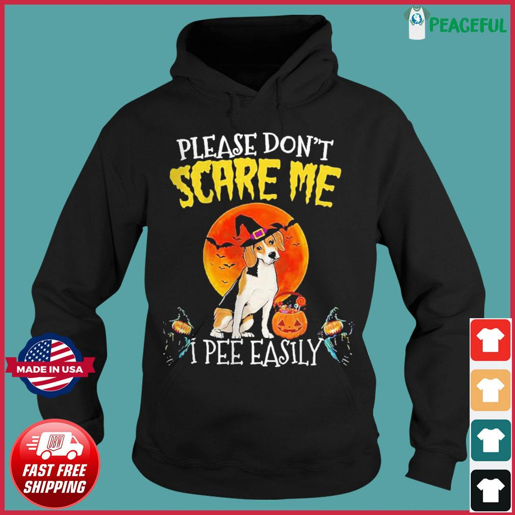 Harrier please don't scare me I pee easily Halloween s Hoodie