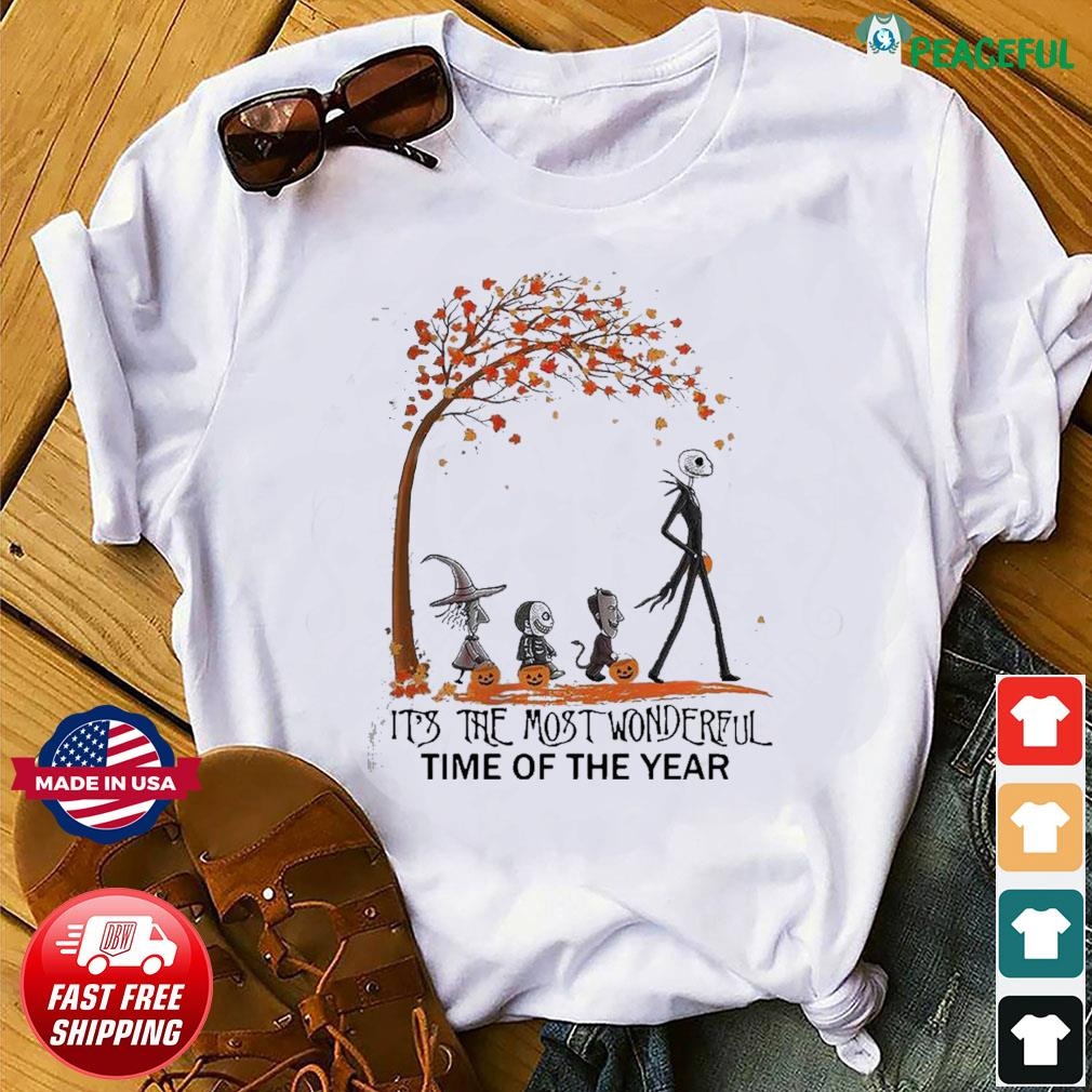 Jack Skellington it's the most wonderful time of the year Halloween shirt