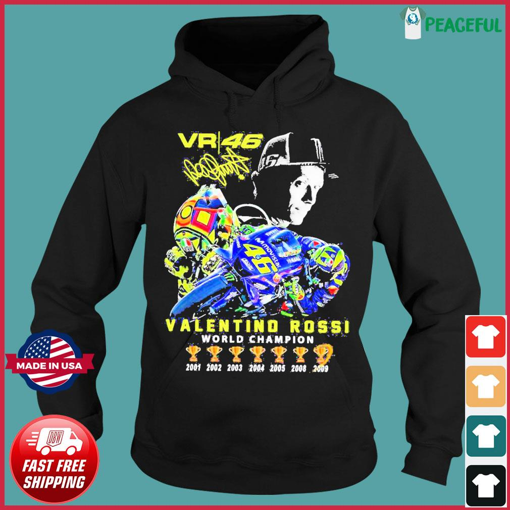 Offcial VR46 Valentino Rossi World Champion signature s Hoodie