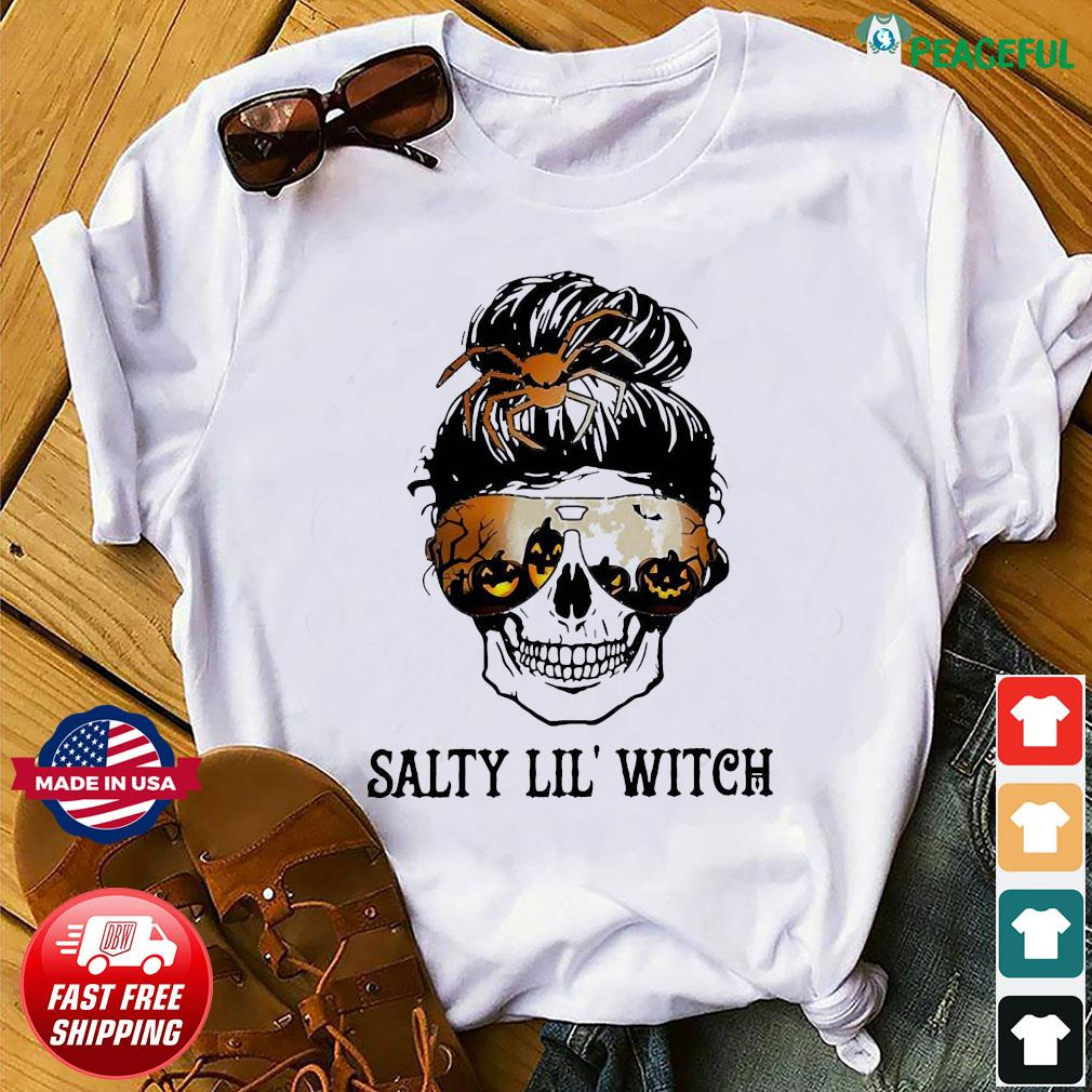 Skull salty lil' witch shirt