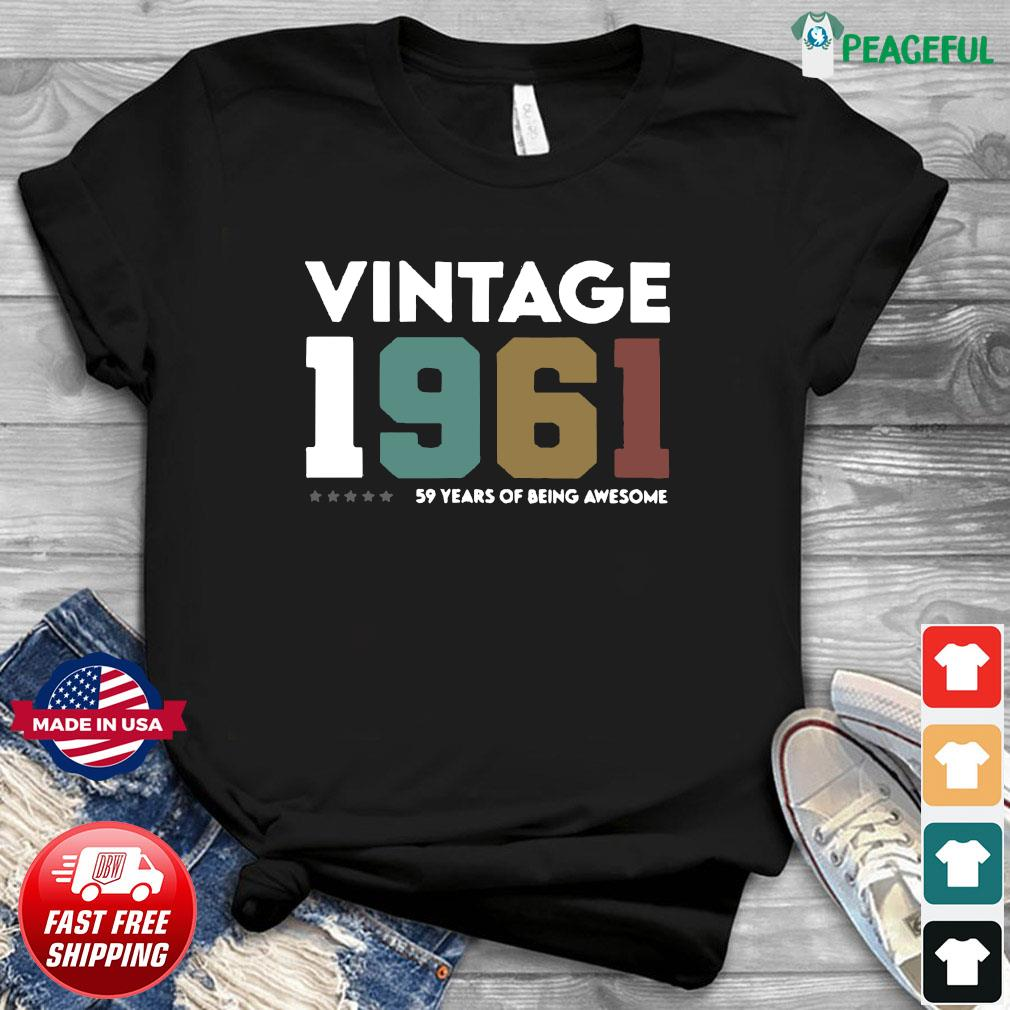 Vintage 1961 59 Years Of Being Awesome Shirt