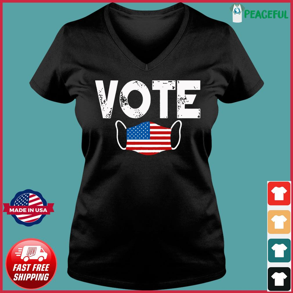 Vote Election Retro Vintage Anti Trump 2020 Election Shirt Ladies V-neck Tee