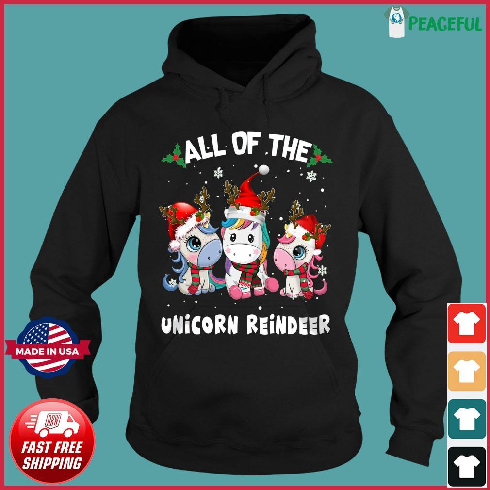 All Of The Unicorn Reindeer Christmas Sweats Hoodie