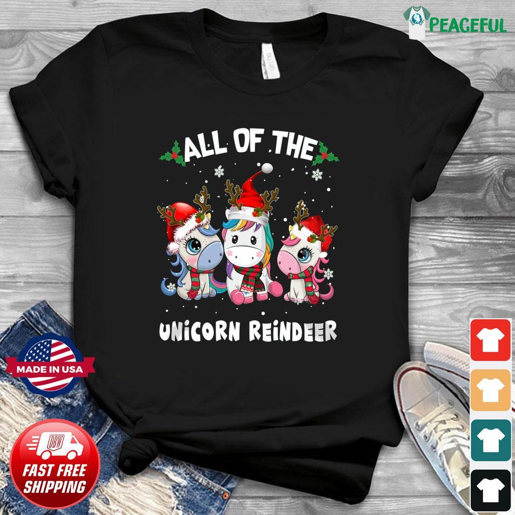 All Of The Unicorn Reindeer Christmas Sweatshirt