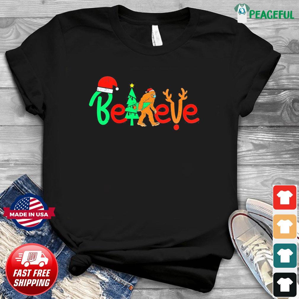 Bigfoot Santa Believe Christmas Sweatshirt