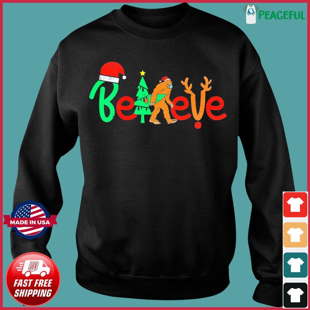 Bigfoot Santa Believe Christmas Sweats Sweater