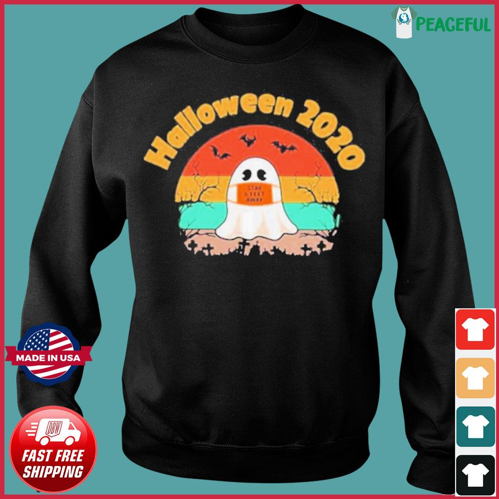 Boo Face Mask Halloween 2020 Stay 6 Feet Away vintage s Sweater