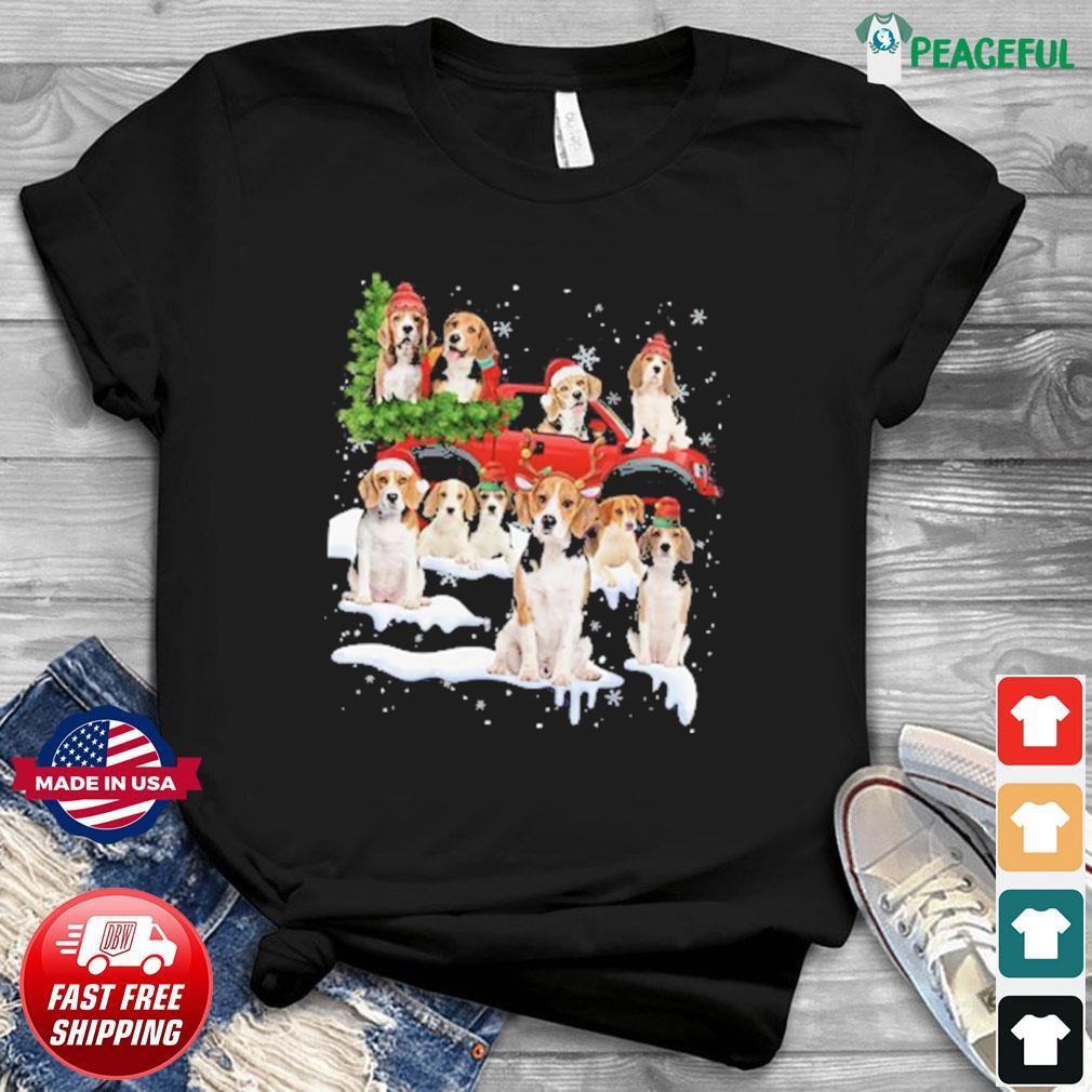 Bulldog Riding Truck Merry Christmas 2020 Sweatshirt