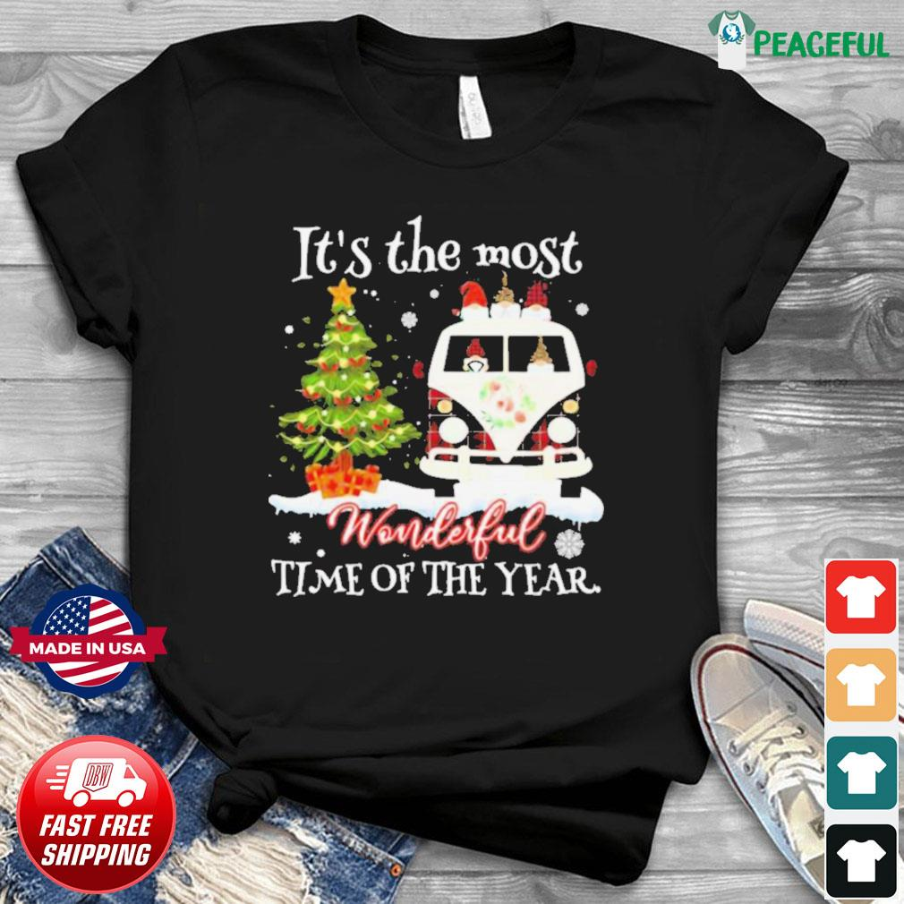 Christmas Gnomies It's The Most Wonderful Time Of The Year shirt