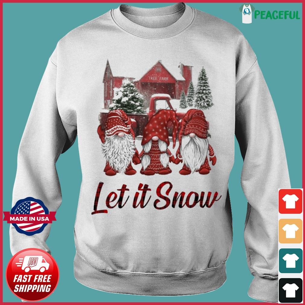 Gnomes Let It Snow Christmas Sweats Sweater