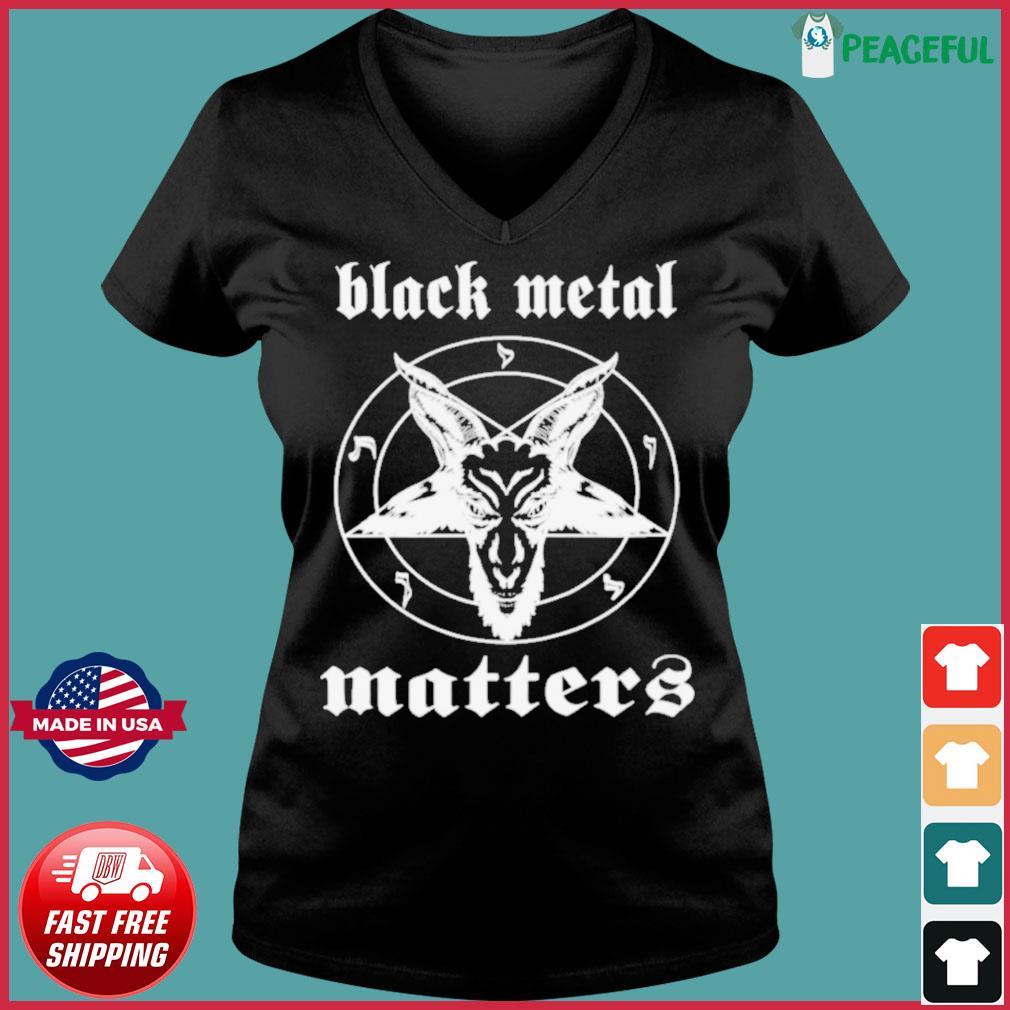Goat Black Metal Matters s Ladies V-neck Tee