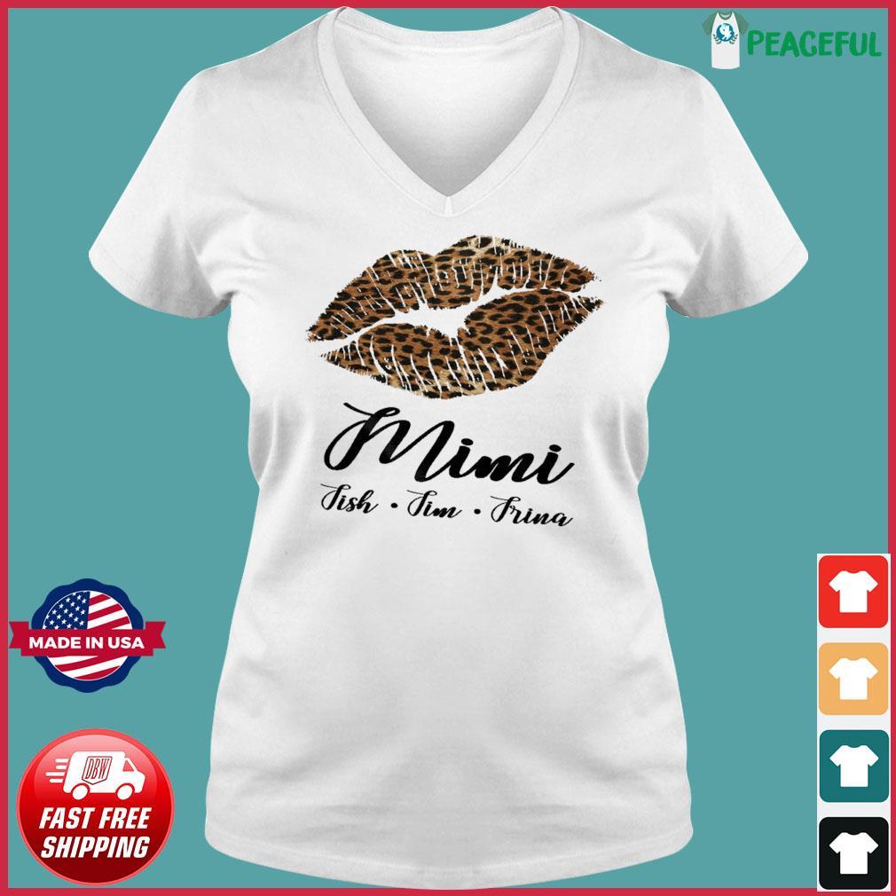 Lips Mini Fish Fim Frima Shirt Ladies V-neck Tee
