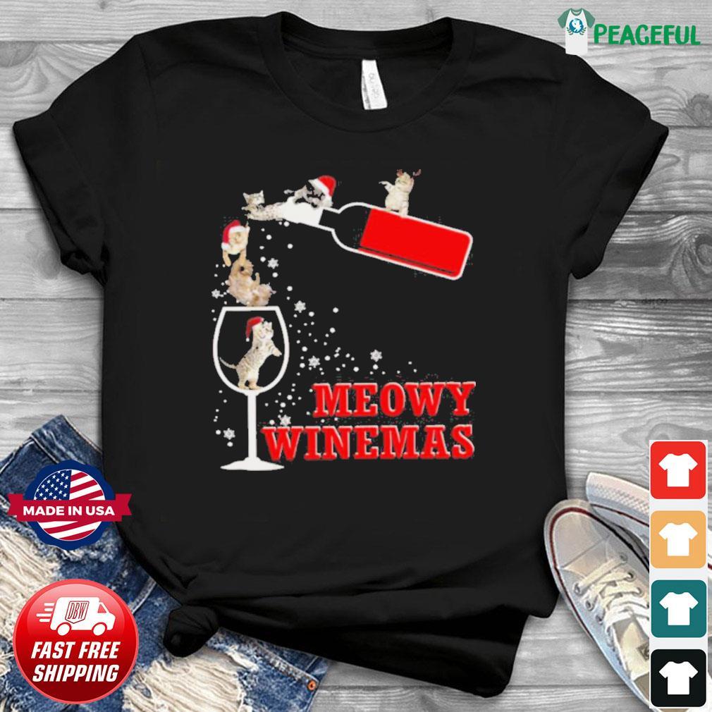 Meowy Winemas Christmas shirt