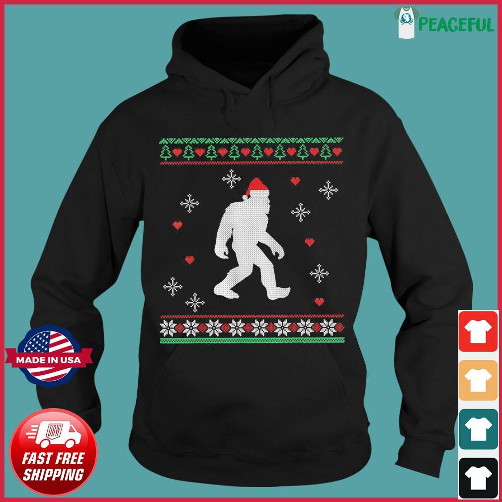 Santa Bigfoot 2020 Ugly Christmas Sweats Hoodie