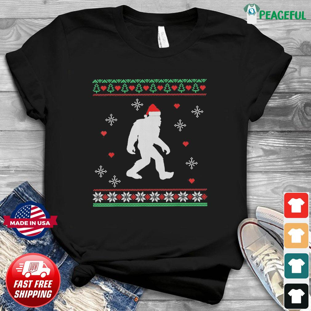 Santa Bigfoot 2020 Ugly Christmas Sweatshirt
