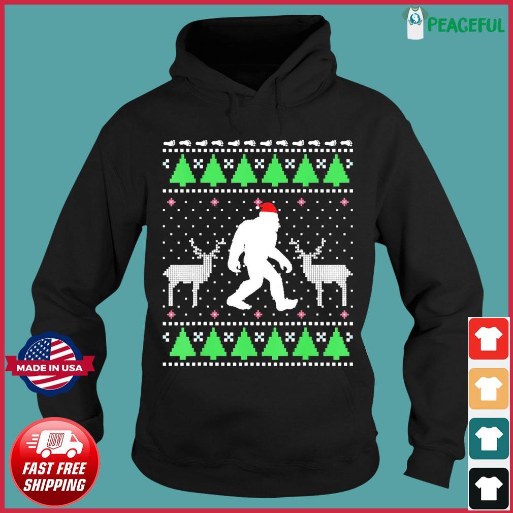 Santa Bigfoot And Reindeer 2020 Ugly Christmas Sweats Hoodie