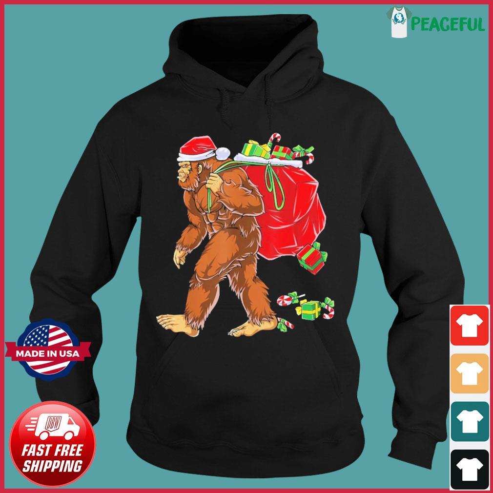Santa Bigfoot Christmas Sweats Hoodie