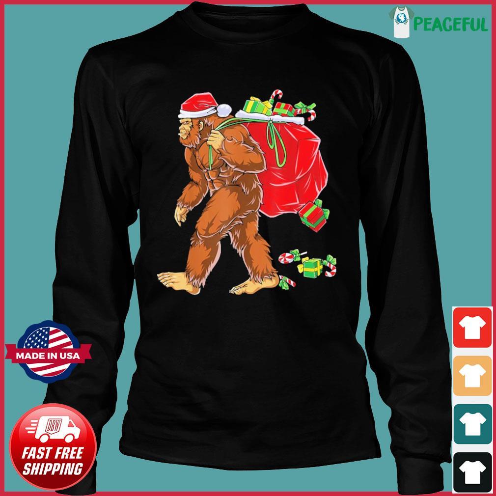 Santa Bigfoot Christmas Sweats Long Sleeve